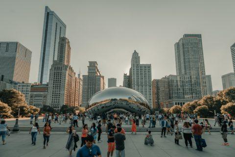 theLivingCore, strategische Büroraumgestalter, and Steelcase gemeinsam in Chicago